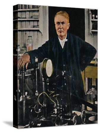 'Thomas Alba Edison 1847-1931', 1934-Unknown-Stretched Canvas Print