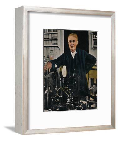 'Thomas Alba Edison 1847-1931', 1934-Unknown-Framed Giclee Print