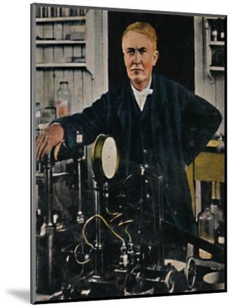 'Thomas Alba Edison 1847-1931', 1934-Unknown-Mounted Giclee Print