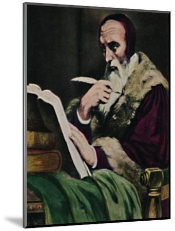 'Calvin 1509-1564. - Gemälde von Scheffer', 1934-Unknown-Mounted Giclee Print