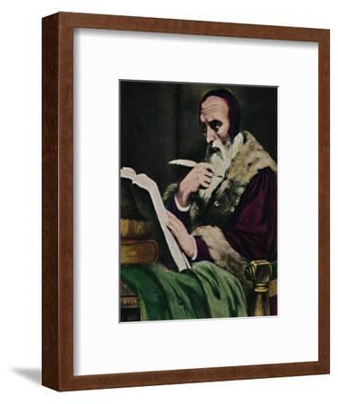 'Calvin 1509-1564. - Gemälde von Scheffer', 1934-Unknown-Framed Giclee Print