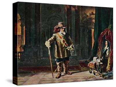 'Oliver Cromwell 1599-1658. - Gemälde von Schrader', 1934-Unknown-Stretched Canvas Print