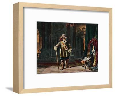 'Oliver Cromwell 1599-1658. - Gemälde von Schrader', 1934-Unknown-Framed Giclee Print