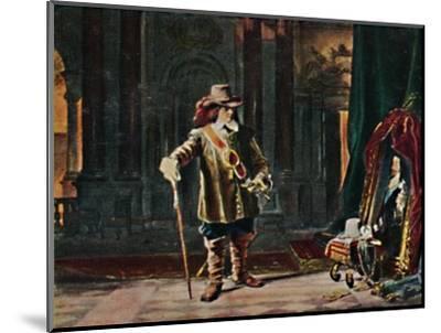 'Oliver Cromwell 1599-1658. - Gemälde von Schrader', 1934-Unknown-Mounted Giclee Print