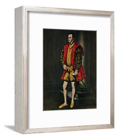 'König Philipp II. Von Spanien 1527-1598. - Gemälde von Tizian', 1934-Unknown-Framed Giclee Print