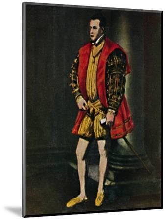 'König Philipp II. Von Spanien 1527-1598. - Gemälde von Tizian', 1934-Unknown-Mounted Giclee Print