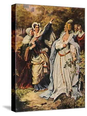 'Maria Stuart 1542-1587 und Elisabeth v. England 1533-1603', 1934-Unknown-Stretched Canvas Print