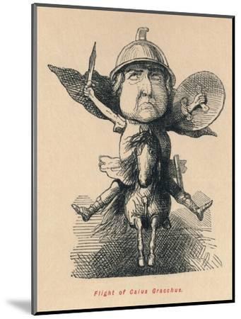 'Flight of Gaius Gracchus', 1852-John Leech-Mounted Giclee Print