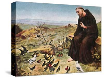 'Der Hellige Franz von Assisi 1182-1226', 1934-Unknown-Stretched Canvas Print