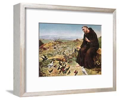 'Der Hellige Franz von Assisi 1182-1226', 1934-Unknown-Framed Giclee Print