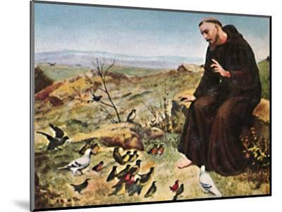 'Der Hellige Franz von Assisi 1182-1226', 1934-Unknown-Mounted Giclee Print