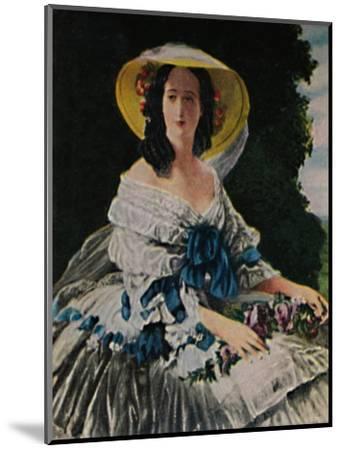 'Kaiserin Eugenie 1826-1920. - Gemälde von Winterhalter', 1934-Unknown-Mounted Giclee Print