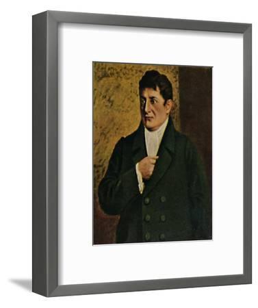 'Johann Gottlieb Fichte 1762-1814. - Gemälde von Professor Plühr', 1934-Unknown-Framed Giclee Print