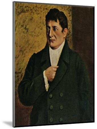 'Johann Gottlieb Fichte 1762-1814. - Gemälde von Professor Plühr', 1934-Unknown-Mounted Giclee Print