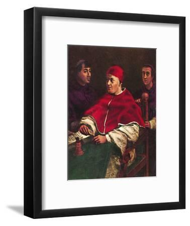 'Papst Leo X. 1475-1521', 1934-Unknown-Framed Giclee Print