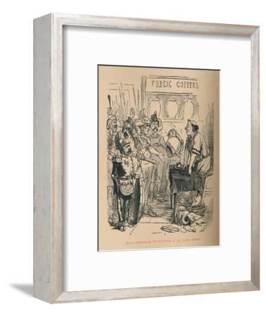 'Hanno announcing the emptiness of the Public Coffers', 1852-John Leech-Framed Giclee Print