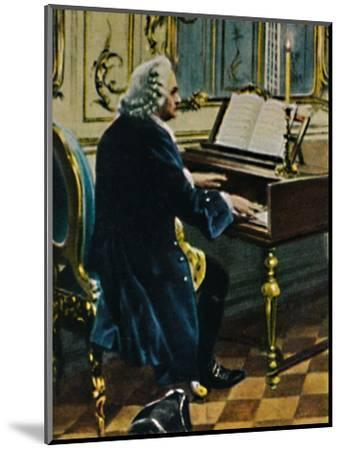 'Johann Sebastian Bach 1685-1750. - Ausichnitt aus dem Gemälde von Carl Röhling', 1934-Unknown-Mounted Giclee Print