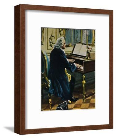'Johann Sebastian Bach 1685-1750. - Ausichnitt aus dem Gemälde von Carl Röhling', 1934-Unknown-Framed Giclee Print