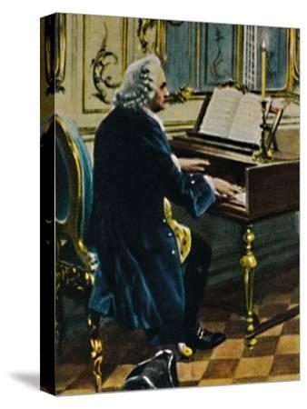 'Johann Sebastian Bach 1685-1750. - Ausichnitt aus dem Gemälde von Carl Röhling', 1934-Unknown-Stretched Canvas Print