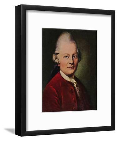 'Gotthold Ephraim Lessing 1729-1781. - Gemälde von Anton Graff', 1934-Unknown-Framed Giclee Print