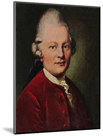 'Gotthold Ephraim Lessing 1729-1781. - Gemälde von Anton Graff', 1934-Unknown-Mounted Giclee Print