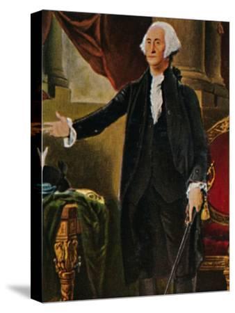 'George Washington 1732-1799. - Stich nach dem Gemälde von G. C. Stuart', 1934-Unknown-Stretched Canvas Print