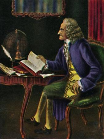 'Voltaire 1694-1778. - Gemälde von Carmontel', 1934-Unknown-Stretched Canvas Print