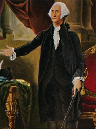 'George Washington 1732-1799. - Stich nach dem Gemälde von G. C. Stuart', 1934-Unknown-Framed Giclee Print