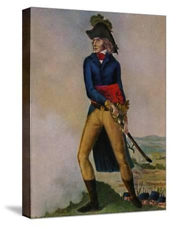 'Marschall Bernadotte 1763-1844. Stich nach der Zeichmung von Hilaire Le Dru', 1934-Unknown-Stretched Canvas Print