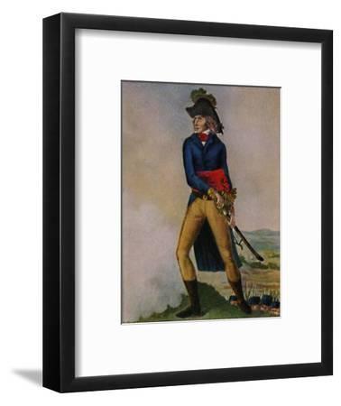 'Marschall Bernadotte 1763-1844. Stich nach der Zeichmung von Hilaire Le Dru', 1934-Unknown-Framed Giclee Print
