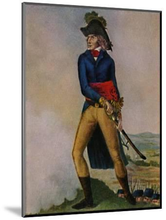 'Marschall Bernadotte 1763-1844. Stich nach der Zeichmung von Hilaire Le Dru', 1934-Unknown-Mounted Giclee Print