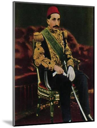 'Sultan Abdul Hamid 1842-1918', 1934-Unknown-Mounted Giclee Print