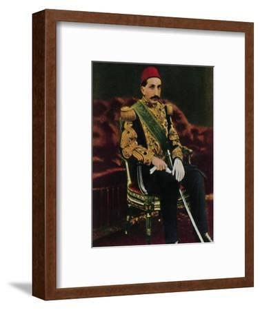 'Sultan Abdul Hamid 1842-1918', 1934-Unknown-Framed Giclee Print
