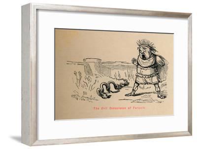 'The Evil Conscience of Tarquin', 1852-John Leech-Framed Giclee Print