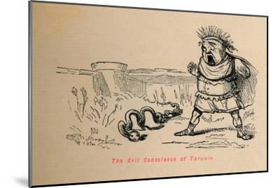 'The Evil Conscience of Tarquin', 1852-John Leech-Mounted Giclee Print