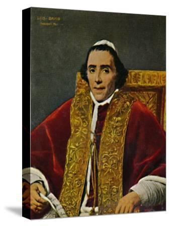 'Papst Pius VII. 1740-1823. - Gemälde von David', 1934-Unknown-Stretched Canvas Print