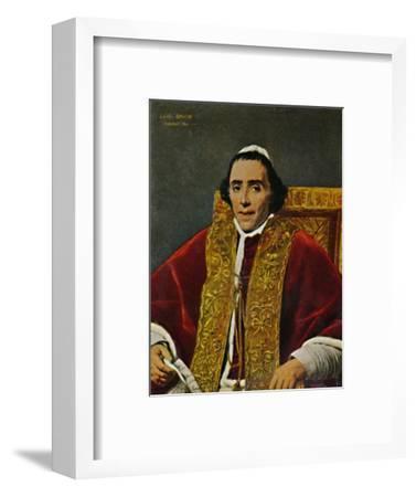 'Papst Pius VII. 1740-1823. - Gemälde von David', 1934-Unknown-Framed Giclee Print