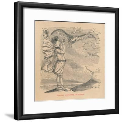 'Romulus consulting the Augury', 1852-John Leech-Framed Giclee Print
