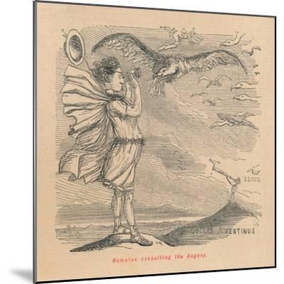 'Romulus consulting the Augury', 1852-John Leech-Mounted Giclee Print