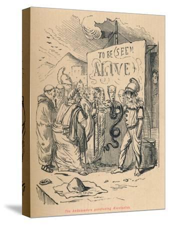 'The Ambassadors purchasing Aesculaplus', 1852-John Leech-Stretched Canvas Print