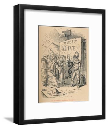 'The Ambassadors purchasing Aesculaplus', 1852-John Leech-Framed Giclee Print