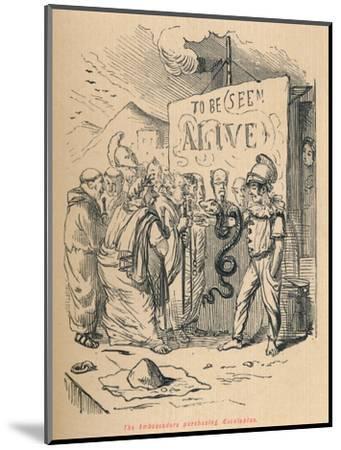'The Ambassadors purchasing Aesculaplus', 1852-John Leech-Mounted Giclee Print