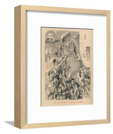 'The Citadel saved by the cackling of the Geese', 1852-John Leech-Framed Giclee Print