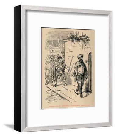 'Hannibal leads the Ambassadors a fatiguing Walk round Carthage', 1852-John Leech-Framed Giclee Print