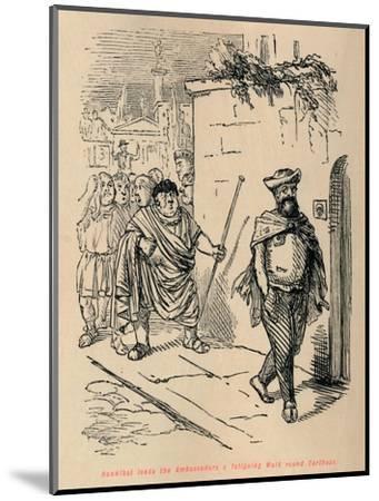 'Hannibal leads the Ambassadors a fatiguing Walk round Carthage', 1852-John Leech-Mounted Giclee Print