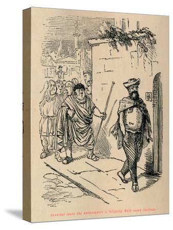 'Hannibal leads the Ambassadors a fatiguing Walk round Carthage', 1852-John Leech-Stretched Canvas Print