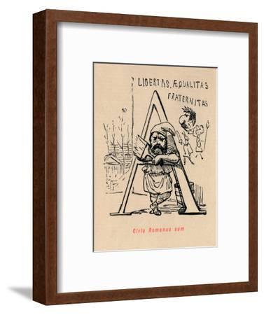 'Civis Romanus sum', 1852-John Leech-Framed Giclee Print