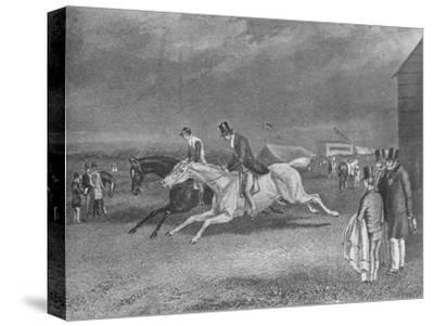 'The Canter Up', 19th century, (1911)-Unknown-Stretched Canvas Print