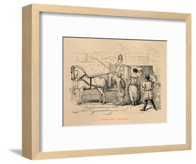 'Roman Lady Shopping', 1852-John Leech-Framed Giclee Print