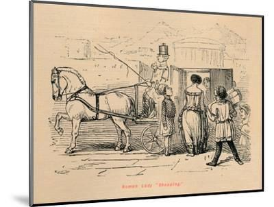 'Roman Lady Shopping', 1852-John Leech-Mounted Giclee Print